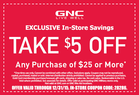 Gnc coupon code