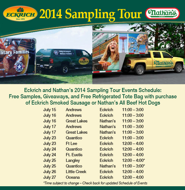 Eckrich and Nathan's Sample Tour