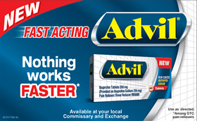 Advil Commissary and Exchange Savings