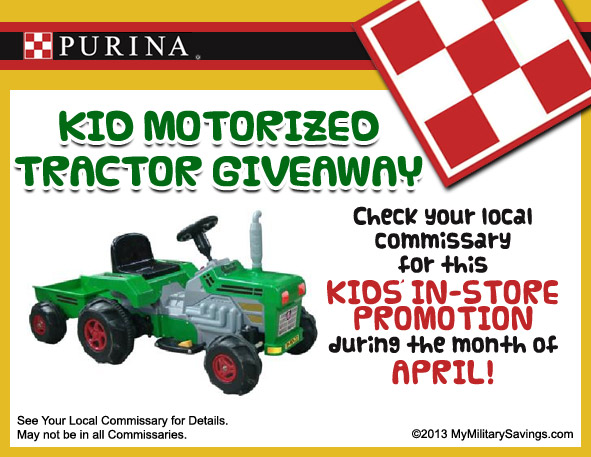 Purina Tractor Giveaway