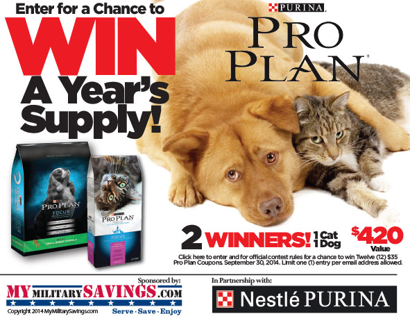Purina Pro Plan Dog and Cat Sweepstakes