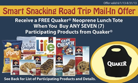 Quaker Military Lunchbag Offer