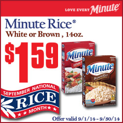Minute Rice Savings