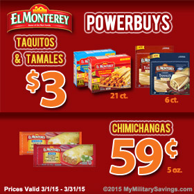 El Monterey Mexican Frozen Food Savings