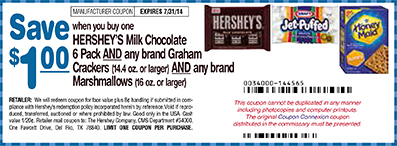 Hershey's Commissary Coupon