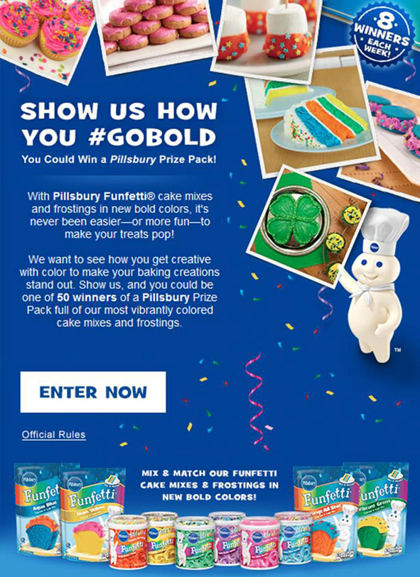 Pillsbury #GoBold Promotion
