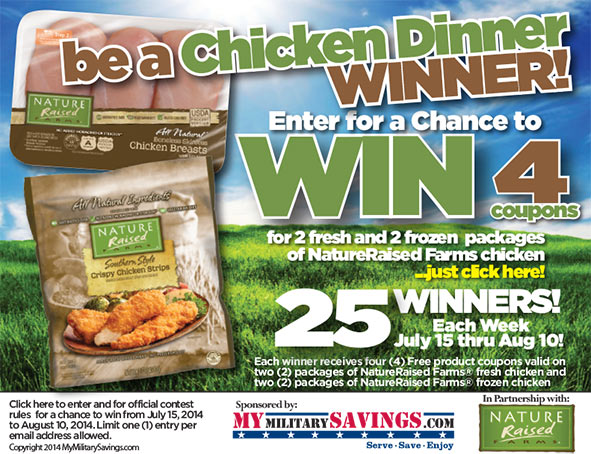 NatureRaised Farms® Chicken Coupon Giveaway