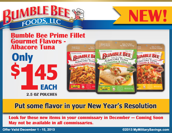 Bumble Bee Commissary Savings